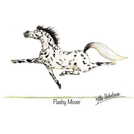 Alex Underdown Blank Greeting Card 'Flashy Mover'