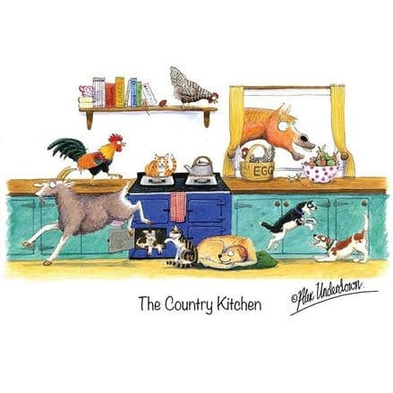 Alex Underdown Blank Greeting Card  'The Country Kitchen'