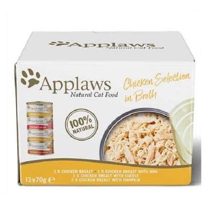 Applaws Adult Wet Cat Food Deluxe Chicken Selection 12 x 70g tins
