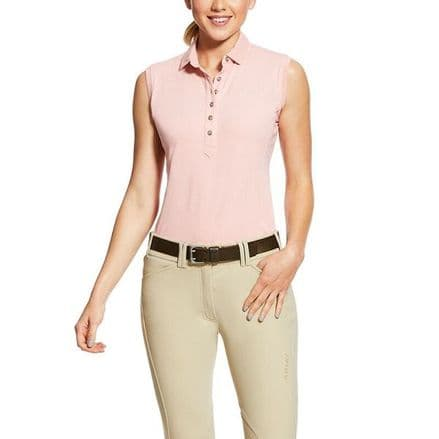 Ariat Prix 2 Sleeveless Ladies Polo Shirt - Bridle Rose