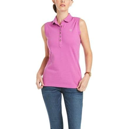 Ariat Prix 2 Sleeveless Ladies Polo Shirt - Meadow Mauve