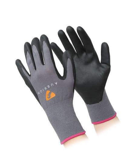 Aubrion All Purpose Yard Gloves - Grey/Black