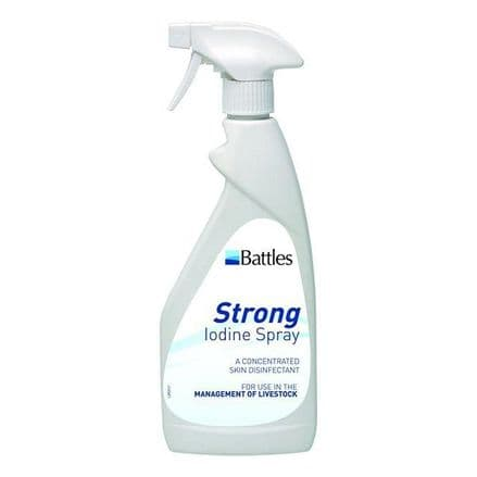 Battles Strong Iodine Spray 500ml