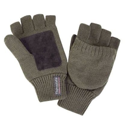 Bisley Thinsulate Shooter's Mitts - Green