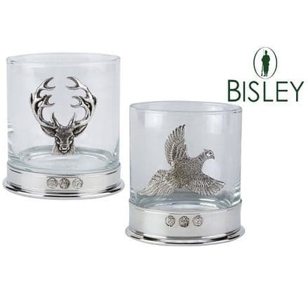 Bisley Whisky Glass With Pewter Motif