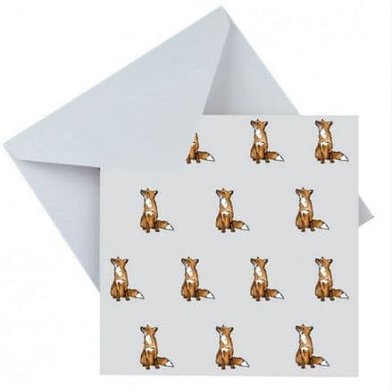 Blank Greeting Card Foxes