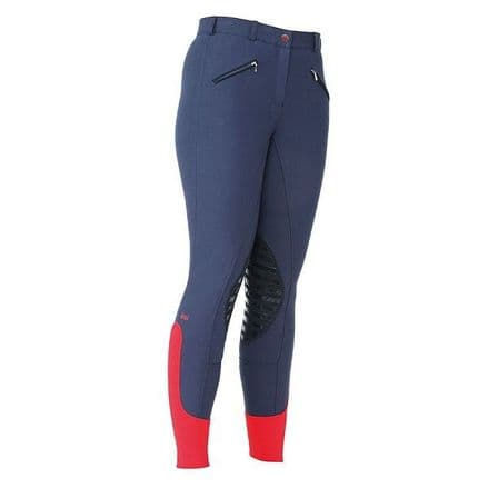 Bridleway Tillington Breeches with Silicon Knee - Navy