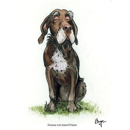 Bryn Parry Blank Greeting Card 'German Wire-Haired Pointer'