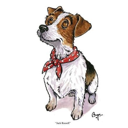 Bryn Parry Blank Greeting Card 'Jack Russell'