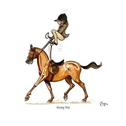 Bryn Parry Blank Greeting Card 'Rising Trot'