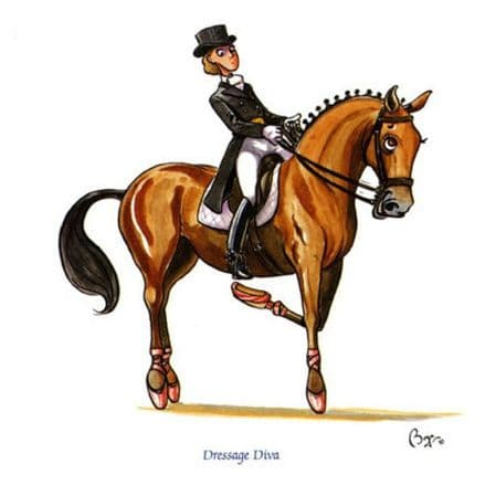 Bryn Parry Blank Greetings Card 'Dressage Diva'