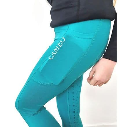 Cameo Performance Junior Tights - Turquoise