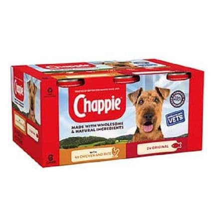 Chappie Wet Adult Dog Food Tins Favourites 6 x 412g