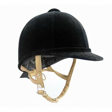 Charles Owen Fiona Velvet Riding Hat - NOT TO CURRENT STANDARD