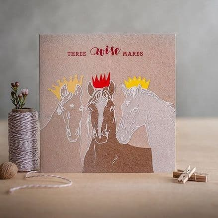 Christmas Card - 'Three Wise Mares'
