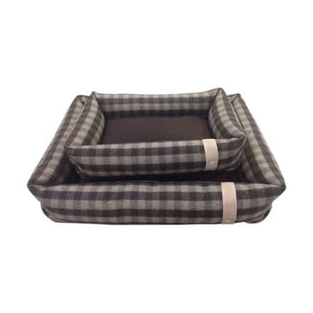 Companion Dog Bed - Checked Chocolate