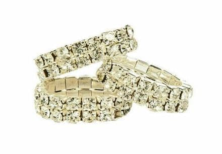 Crystal Plaiting Bands Set of 10 White