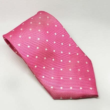 Equetech Adult Tie- Pink & White Spots