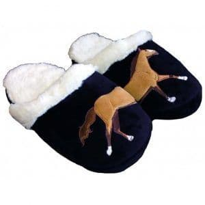 Gray's Galloping Horse Slipper Socks UK 1-4