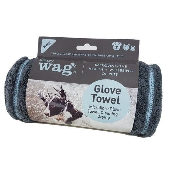 Henry Wag Glove Drying Towel for Pets 100 x 22cm
