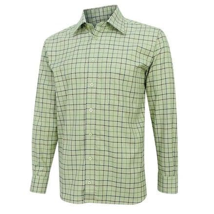 Hoggs of Fife Men's Chieftain Premier Tattersall Shirt - Mint/Berry Check