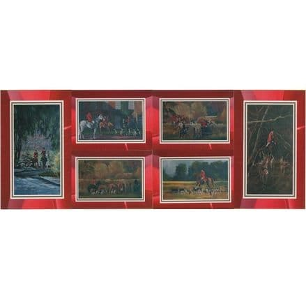 Hunting Scene Set of 6 Blank Cards Illustrated by Alison Wilson
