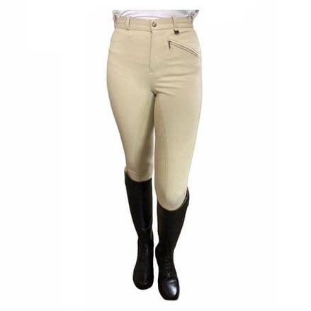 Hy Ladies Competition Full Seat Breeches - Beige