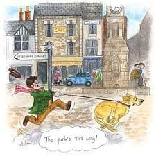 James Herriot Cards 'The Park's This Way...!'