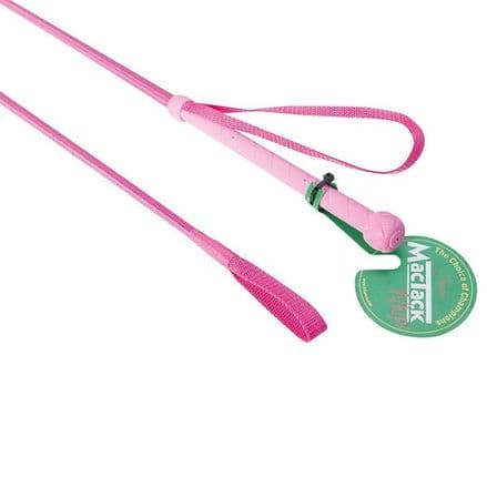 Junior Riding Whip S61 - Neon Pink