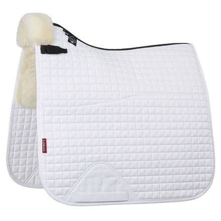 LeMieux Lambswool Dressage Square Half Lined - White/Natural Wool