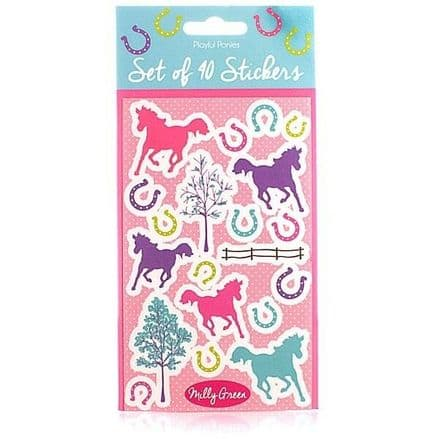 Milly Green Set of 40 Horse Stickers