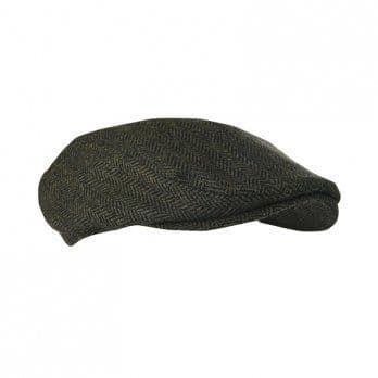 Parapet Tweed Cap Khaki Green