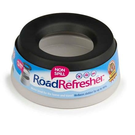Road Refresher Non-spill Dog Bowl - Grey