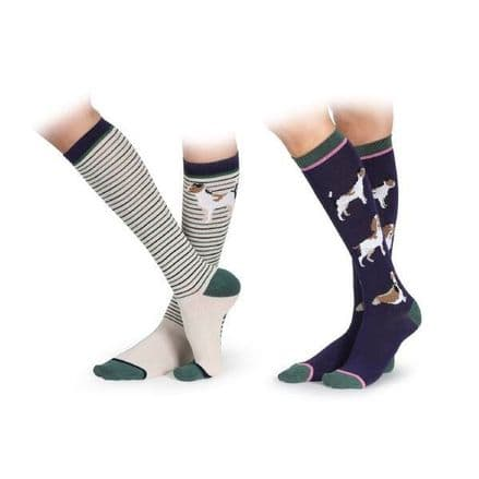 Shires Bamboo Socks 2 Pack - Dogs