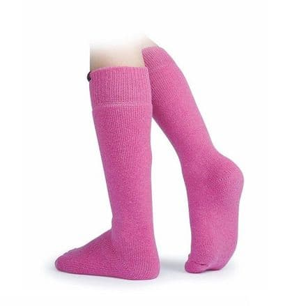 Shires Collier Boot Socks - Pink