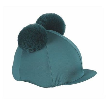 Shires Double Pom Pom Hat Cover - Green