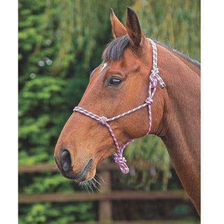 Shires Rope Control Headcollar - Pink