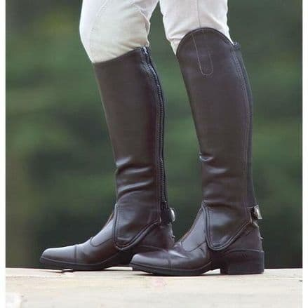 Shires Synthetic Leather Gaiters - Junior Brown