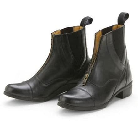Shires Wessex Junior Leather Paddock Boots Black