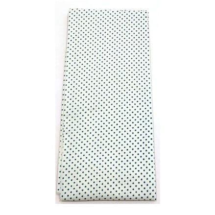 Spartan Self Tie Stock - White with Blue Spots