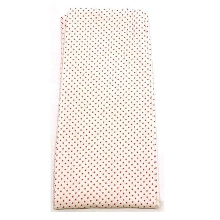 Spartan Self Tie Stock - White with Pink Spots