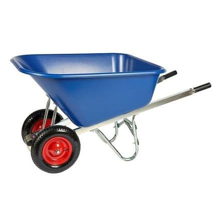 Twin Wheelbarrow 200 Litre Capacity - Un-Assembled