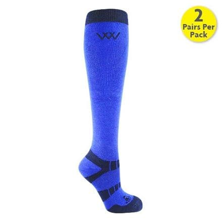Woof Wear Bamboo Socks Pack of Two - Electric Blue