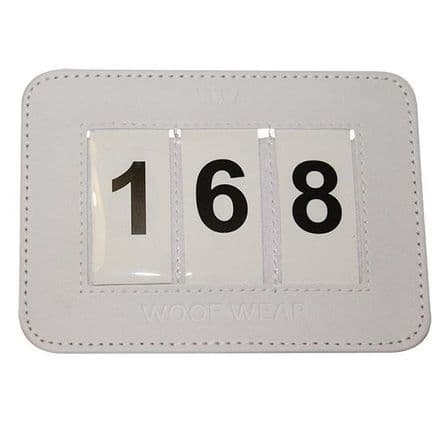 Woof Wear Saddlecloth Number Pair White