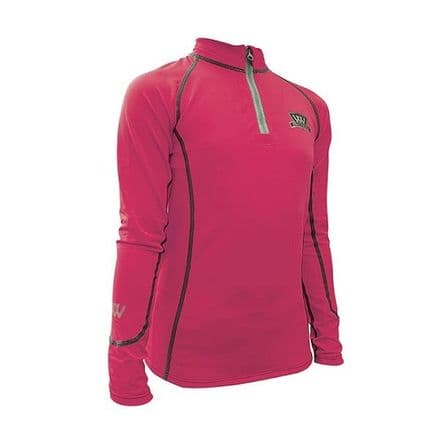 Woof Wear Young Rider Performance Riding Shirt - Berry