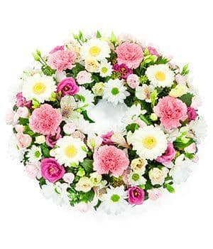 Pink & White Wreath