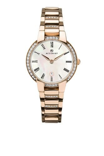 Accurist Signature Classic Watch-Rose Gold