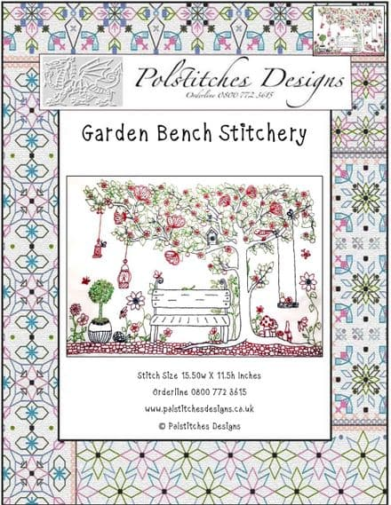 Garden Bench Stitchery