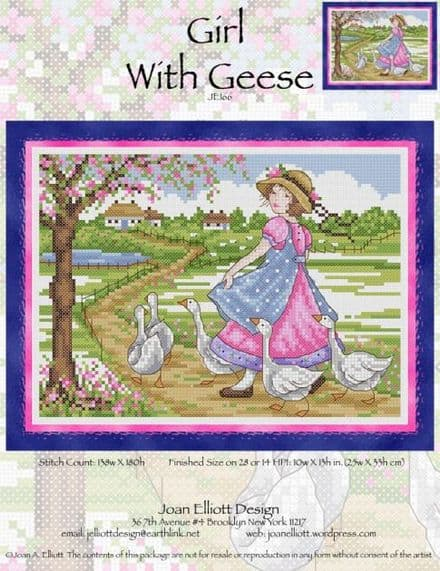 Girl With Geese JE166
