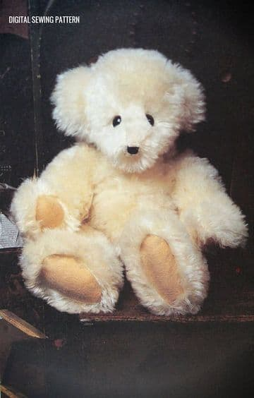 PDF Digital Download Vintage Chart Sewing Pattern A 16 ' Fully Jointed Teddy BearPlush Toy